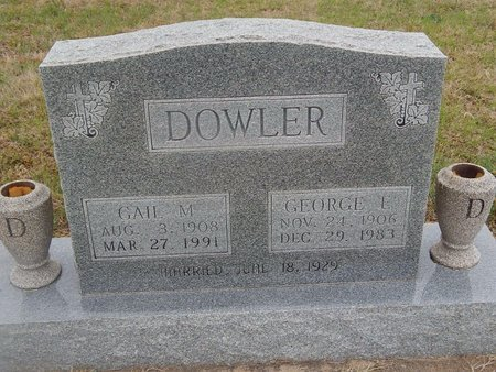 DOWLER, GAIL M - Kay County, Oklahoma | GAIL M DOWLER - Oklahoma Gravestone Photos