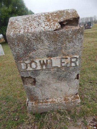 DOWLER, UNKNOWN - Kay County, Oklahoma | UNKNOWN DOWLER - Oklahoma Gravestone Photos