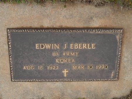 EBERLE (VETERAN KOR), EDWIN J - Kay County, Oklahoma | EDWIN J EBERLE (VETERAN KOR) - Oklahoma Gravestone Photos