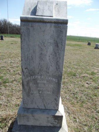 EVANS, JOSEPH E - Kay County, Oklahoma | JOSEPH E EVANS - Oklahoma Gravestone Photos