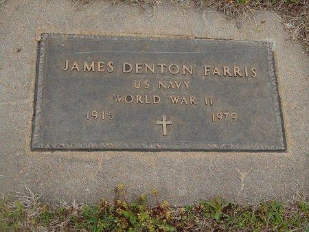 FARRIS (VETERAN), JAMES DENTON - Kay County, Oklahoma | JAMES DENTON FARRIS (VETERAN) - Oklahoma Gravestone Photos
