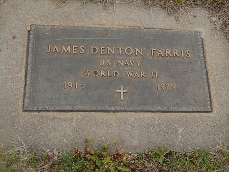 FARRIS (VETERAN WWII), JAMES DENTON - Kay County, Oklahoma | JAMES DENTON FARRIS (VETERAN WWII) - Oklahoma Gravestone Photos