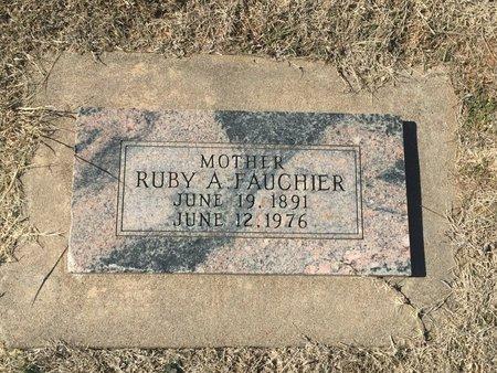 FAUCHIER, RUBY A - Kay County, Oklahoma | RUBY A FAUCHIER - Oklahoma Gravestone Photos
