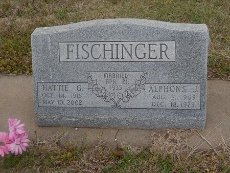 FISCHINGER, HATTIE G - Kay County, Oklahoma | HATTIE G FISCHINGER - Oklahoma Gravestone Photos