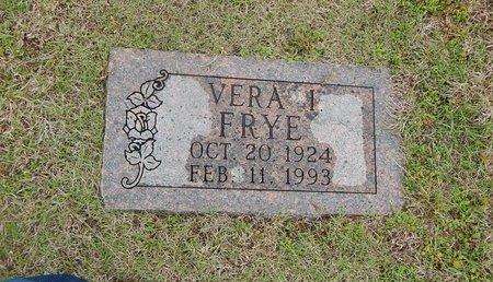 FRYE, VERA I - Kay County, Oklahoma | VERA I FRYE - Oklahoma Gravestone Photos