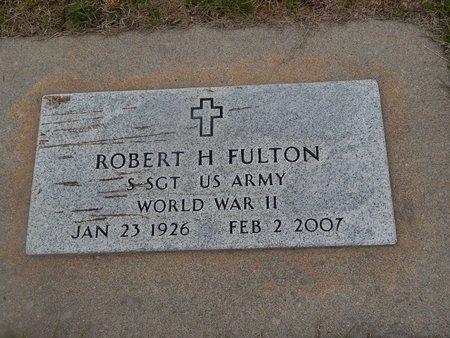 FULTON (VETERAN WWII), ROBERT H - Kay County, Oklahoma | ROBERT H FULTON (VETERAN WWII) - Oklahoma Gravestone Photos