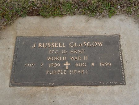 GLASGOW (VETERAN WWII), J RUSSELL - Kay County, Oklahoma | J RUSSELL GLASGOW (VETERAN WWII) - Oklahoma Gravestone Photos