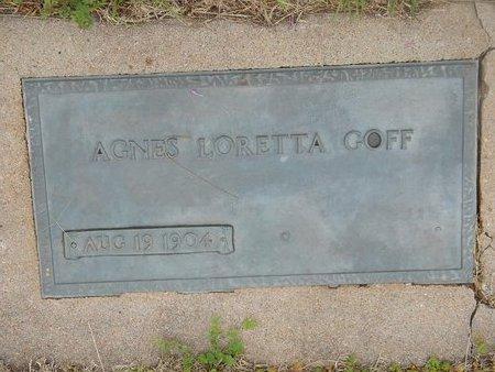 HUGHES GOFF, AGNES LORETTA - Kay County, Oklahoma | AGNES LORETTA HUGHES GOFF - Oklahoma Gravestone Photos