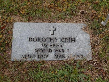 GRIM (VETERAN WWII), DOROTHY - Kay County, Oklahoma | DOROTHY GRIM (VETERAN WWII) - Oklahoma Gravestone Photos