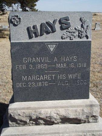 HAYS, GRANVIL A - Kay County, Oklahoma   GRANVIL A HAYS - Oklahoma Gravestone Photos