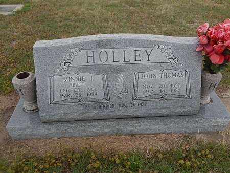 PUTT HOLLEY, MINNIE J - Kay County, Oklahoma | MINNIE J PUTT HOLLEY - Oklahoma Gravestone Photos