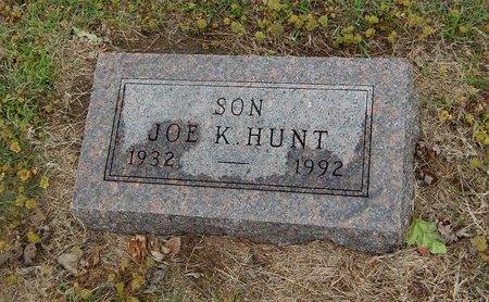 HUNT, JOE K - Kay County, Oklahoma | JOE K HUNT - Oklahoma Gravestone Photos
