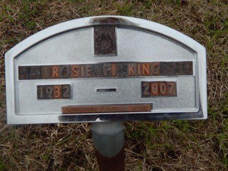 KING, ROSIE F - Kay County, Oklahoma | ROSIE F KING - Oklahoma Gravestone Photos
