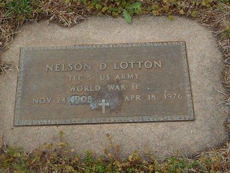 LOTTON (VETERAN WWII), NELSON D - Kay County, Oklahoma | NELSON D LOTTON (VETERAN WWII) - Oklahoma Gravestone Photos