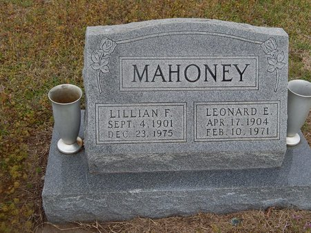 MAHONEY, LILLIAN F - Kay County, Oklahoma | LILLIAN F MAHONEY - Oklahoma Gravestone Photos