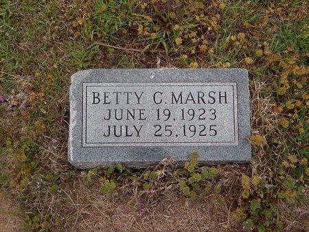 MARSH, BETTY C - Kay County, Oklahoma | BETTY C MARSH - Oklahoma Gravestone Photos