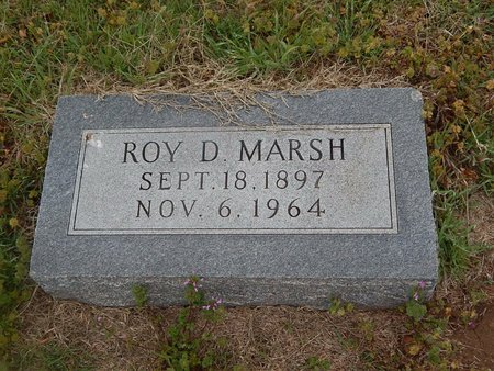MARSH, ROY D - Kay County, Oklahoma | ROY D MARSH - Oklahoma Gravestone Photos