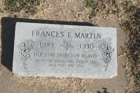 MARTIN, FRANCES E - Kay County, Oklahoma | FRANCES E MARTIN - Oklahoma Gravestone Photos