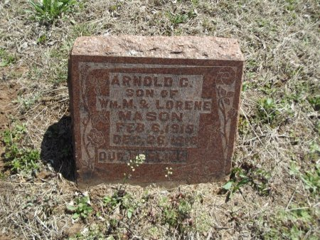 MASON, ARNOLD C - Kay County, Oklahoma   ARNOLD C MASON - Oklahoma Gravestone Photos