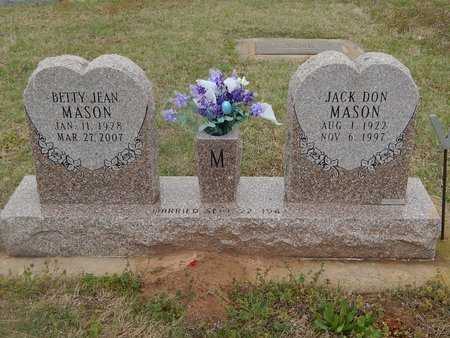 MASON, BETTY JEAN - Kay County, Oklahoma | BETTY JEAN MASON - Oklahoma Gravestone Photos
