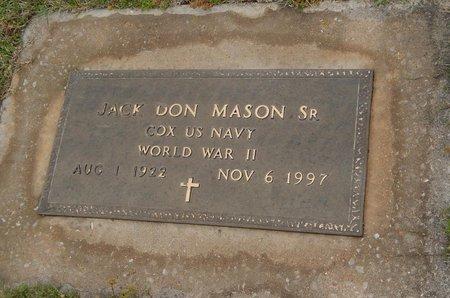 MASON (VETERAN WWII), JACK DON SR - Kay County, Oklahoma | JACK DON SR MASON (VETERAN WWII) - Oklahoma Gravestone Photos