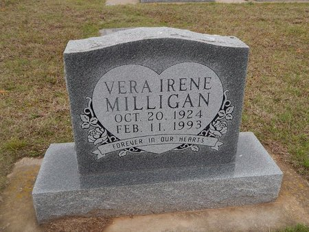 MILLIGAN, VERA IRENE - Kay County, Oklahoma | VERA IRENE MILLIGAN - Oklahoma Gravestone Photos