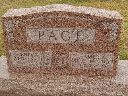 PAGE, DELMER L - Kay County, Oklahoma | DELMER L PAGE - Oklahoma Gravestone Photos