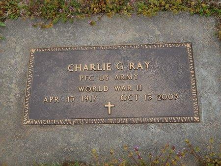 RAY (VETERAN WWII), CHARLIE G - Kay County, Oklahoma | CHARLIE G RAY (VETERAN WWII) - Oklahoma Gravestone Photos