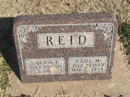 REID, PAUL M - Kay County, Oklahoma | PAUL M REID - Oklahoma Gravestone Photos