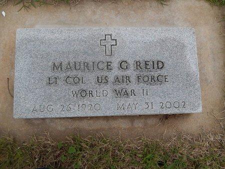 REID (VETERAN WWII), MAURICE G - Kay County, Oklahoma | MAURICE G REID (VETERAN WWII) - Oklahoma Gravestone Photos