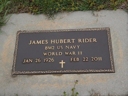 RIDER (VETERAN WWII), JAMES HUBERT - Kay County, Oklahoma | JAMES HUBERT RIDER (VETERAN WWII) - Oklahoma Gravestone Photos
