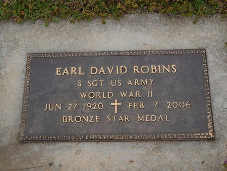 ROBINS (VETERAN WWII), EARL DAVID - Kay County, Oklahoma | EARL DAVID ROBINS (VETERAN WWII) - Oklahoma Gravestone Photos