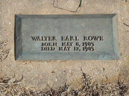 ROWE, WALTER EARL - Kay County, Oklahoma | WALTER EARL ROWE - Oklahoma Gravestone Photos