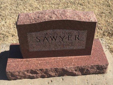 SAWYER, MARVIN D - Kay County, Oklahoma | MARVIN D SAWYER - Oklahoma Gravestone Photos