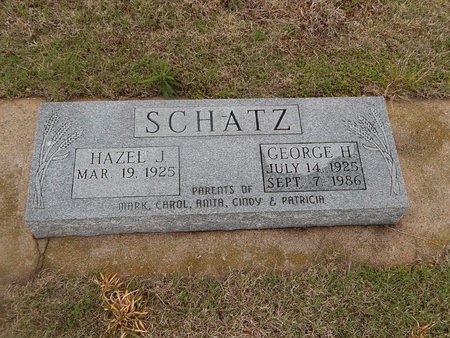 SCHATZ, GEORGE H - Kay County, Oklahoma | GEORGE H SCHATZ - Oklahoma Gravestone Photos