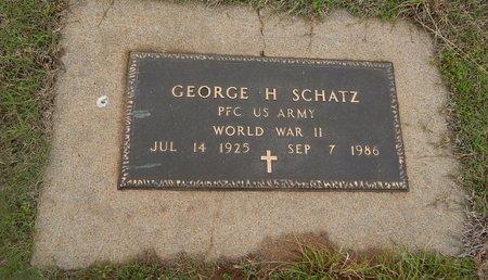 SCHATZ (VETERAN WWII), GEORGE H - Kay County, Oklahoma | GEORGE H SCHATZ (VETERAN WWII) - Oklahoma Gravestone Photos