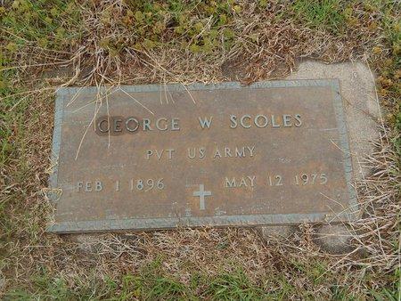 SCOLES (VETERAN), GEORGE W - Kay County, Oklahoma | GEORGE W SCOLES (VETERAN) - Oklahoma Gravestone Photos