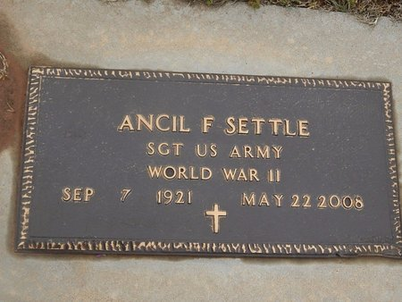 SETTLE (VETERAN WWII), ANCIL F - Kay County, Oklahoma | ANCIL F SETTLE (VETERAN WWII) - Oklahoma Gravestone Photos