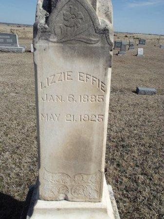 SMITH, LIZZIE EFFIE (CLOSE-UP) - Kay County, Oklahoma | LIZZIE EFFIE (CLOSE-UP) SMITH - Oklahoma Gravestone Photos