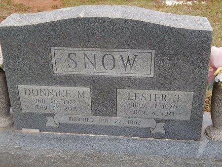 SNOW, LESTER T - Kay County, Oklahoma | LESTER T SNOW - Oklahoma Gravestone Photos
