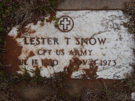SNOW (VETERAN), LESTER T - Kay County, Oklahoma   LESTER T SNOW (VETERAN) - Oklahoma Gravestone Photos