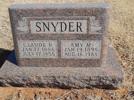 SNYDER, AMY M - Kay County, Oklahoma | AMY M SNYDER - Oklahoma Gravestone Photos