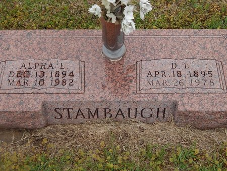 STAMBAUGH, ALPHA L - Kay County, Oklahoma | ALPHA L STAMBAUGH - Oklahoma Gravestone Photos