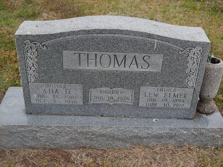 THOMAS, LEW ELMER - Kay County, Oklahoma | LEW ELMER THOMAS - Oklahoma Gravestone Photos