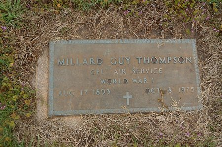 THOMPSON (VETERAN WWI), MILLARD GUY - Kay County, Oklahoma | MILLARD GUY THOMPSON (VETERAN WWI) - Oklahoma Gravestone Photos