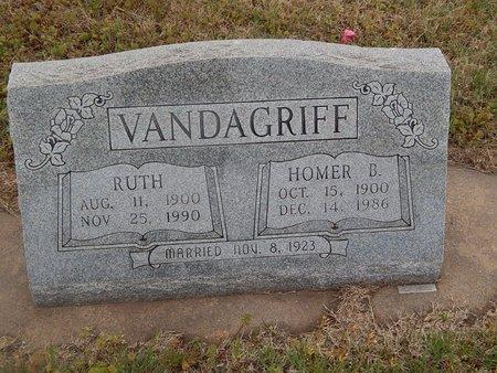 VANDAGRIFF, HOMER B - Kay County, Oklahoma | HOMER B VANDAGRIFF - Oklahoma Gravestone Photos