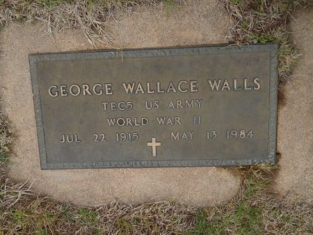WALLS (VETERAN WWII), GEORGE WALLACE - Kay County, Oklahoma   GEORGE WALLACE WALLS (VETERAN WWII) - Oklahoma Gravestone Photos