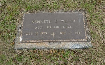 WELCH (VETERAN), KENNETH E - Kay County, Oklahoma | KENNETH E WELCH (VETERAN) - Oklahoma Gravestone Photos