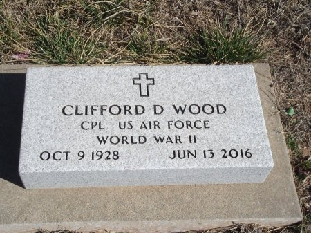 WOOD (VETERAN WWII), CLIFFORD D - Kay County, Oklahoma | CLIFFORD D WOOD (VETERAN WWII) - Oklahoma Gravestone Photos