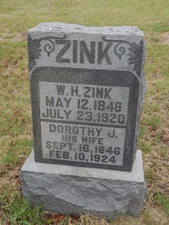 ZINK, W H - Kay County, Oklahoma | W H ZINK - Oklahoma Gravestone Photos